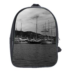 Vintage Principality of Monaco The port of Monaco 1970 School Bag (XL) by Vintagephotos