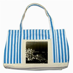 Vintage Principality Of Monaco & Overview 1970 Blue Striped Tote Bag by Vintagephotos