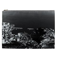 Vintage Principality Of Monaco & Overview 1970 Cosmetic Bag (xxl)