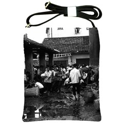 Vintage China Changsha Market 1970 Cross Shoulder Sling Bag by Vintagephotos