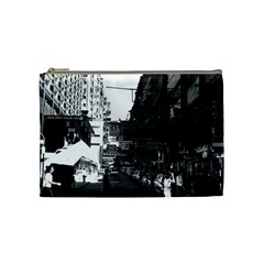 Vintage China Hong Kong Street City Cars 1970 Medium Makeup Purse by Vintagephotos
