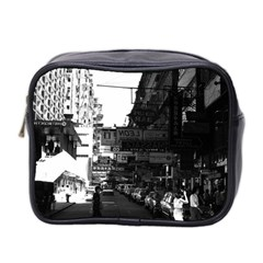 Vintage China Hong Kong Street City Cars 1970 Twin Sided Cosmetic Case by Vintagephotos