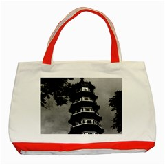 Vintage China Canton The Flowery Pagoda 1970 Red Tote Bag by Vintagephotos