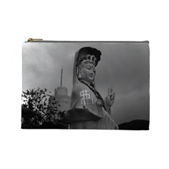 Vintage China Hong Kong Repulse Bay Kwun Yam Statue Large Makeup Purse by Vintagephotos