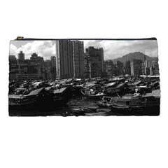 Vintage China Hong Kong Houseboats River 1970 Pencil Case