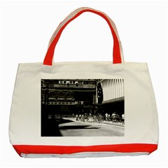 Vintage China Hong Kong Street City 1970 Red Tote Bag by Vintagephotos