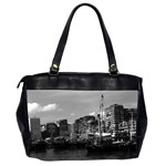 Vintage China Hong Kong houseboats river 1970 Twin-sided Oversized Handbag Back