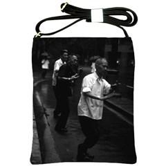 Vintage China Shanghai Morning Gymnastic 1970 Cross Shoulder Sling Bag