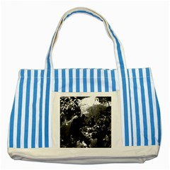 Vintage China Canton Restaurant 1970 Blue Striped Tote Bag by Vintagephotos