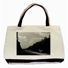 Vintage China Pekin Beautiful Pathway Ming Tombs 1970 Twin Sided Black Tote Bag by Vintagephotos