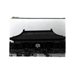 Vintage China Pekin Temple Of Heaven Gate 1970 Large Makeup Purse by Vintagephotos