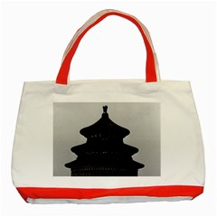 Vintage China Pekin Temple Of Heaven 1970 Red Tote Bag by Vintagephotos