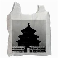 Vintage China Pekin Temple Of Heaven 1970 Single Sided Reusable Shopping Bag