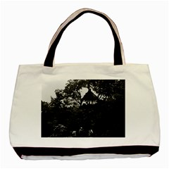 Vintage China Shanghai Yuyuan Garden 1970 Twin Sided Black Tote Bag by Vintagephotos