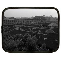 Vintage China Shanghai City 1970 15  Netbook Case by Vintagephotos
