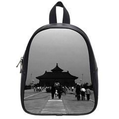 Vintage China Pekin Forbidden City Gate 1970 Small School Backpack by Vintagephotos