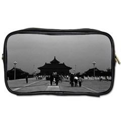Vintage China Pekin Forbidden City Gate 1970 Single Sided Personal Care Bag