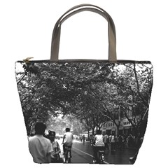 Vintage China Shanghai Street 1970 Bucket Handbag by Vintagephotos
