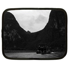 Vintage China Guilin River Boat 1970 15  Netbook Case by Vintagephotos
