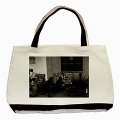 Vintage China Changsha Book Lending 1970 Twin Sided Black Tote Bag by Vintagephotos