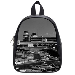 Vintage Germany Berlin The Tegel Airport 1970 Small School Backpack by Vintagephotos
