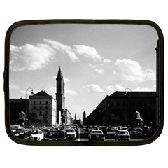 Vintage Germany Ludwigstra?e University Ludwing Church 12  Netbook Case by Vintagephotos