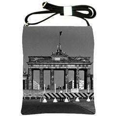 Vintage Germany Berlin Brandenburg Gate 1970 Cross Shoulder Sling Bag by Vintagephotos