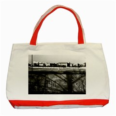 Vintage Germany Berlin Wall 1970 Red Tote Bag by Vintagephotos