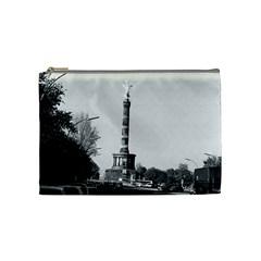 Vintage Germany Berlin 17th June Street Victory Statue Medium Makeup Purse by Vintagephotos