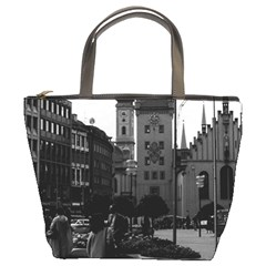 Vintage Germany Munich Church Marienplatz 1970 Bucket Handbag by Vintagephotos