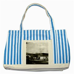 Vintage Germany Berlin New National Gallery 1970 Blue Striped Tote Bag by Vintagephotos