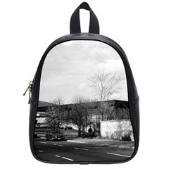 Vintage Germany Berlin New National Gallery 1970 Small School Backpack by Vintagephotos