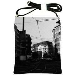 Vintage Germany Frankfurt City Street 1970 Cross Shoulder Sling Bag by Vintagephotos