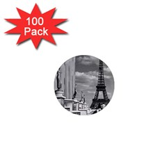 Vintage France Paris Eiffel Tour Chaillot Palace 1970 100 Pack Mini Magnet (round) by Vintagephotos