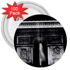 Vintage France Paris Triumphal Arch 1970 100 Pack Large Button (round)
