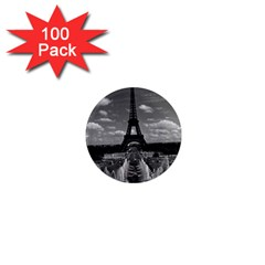 Vintage France Paris Fontain Chaillot Tour Eiffel 1970 100 Pack Mini Magnet (round) by Vintagephotos