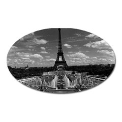 Vintage France Paris Fontain Chaillot Tour Eiffel 1970 Large Sticker Magnet (oval) by Vintagephotos