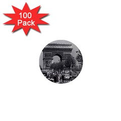 Vintage France Paris Triumphal Arch 1970 100 Pack Mini Magnet (round) by Vintagephotos