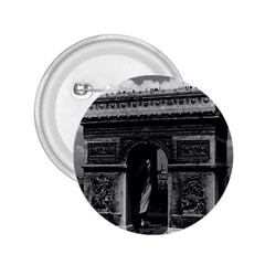 Vintage France Paris Triumphal Arch  Place De L etoile Regular Button (round)