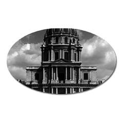 Vintage France Paris Church Saint Louis Des Invalides Large Sticker Magnet (oval) by Vintagephotos