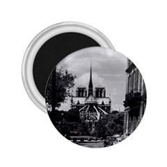 Vintage France Paris Notre Dame Saint Louis Island 1970 Regular Magnet (round)
