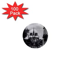 Vintage France Paris Notre Dame Saint Louis Island 1970 100 Pack Mini Magnet (round) by Vintagephotos