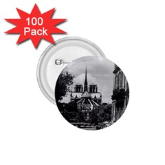 Vintage France Paris Notre Dame Saint Louis Island 1970 100 Pack Small Button (round) by Vintagephotos