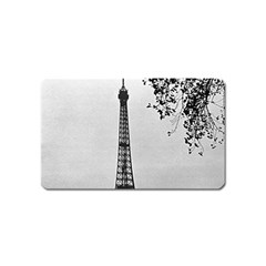 Vintage France Paris Eiffel Tour  Seine At Dusk 1970 Name Card Sticker Magnet by Vintagephotos
