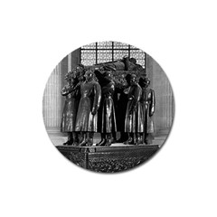 Vintage France Paris  Invalides Marshal Foch Tomb 1970 Large Sticker Magnet (round)