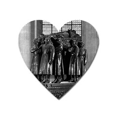 Vintage France Paris  Invalides Marshal Foch Tomb 1970 Large Sticker Magnet (heart) by Vintagephotos