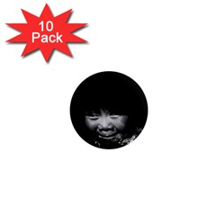 Vintage USA Alaska eskimo child 1970 10 Pack Mini Magnet (Round) by Vintagephotos