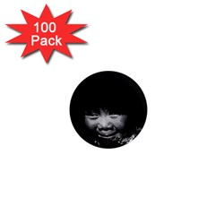 Vintage Usa Alaska Eskimo Child 1970 100 Pack Mini Magnet (round) by Vintagephotos