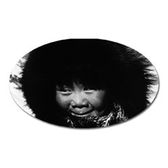 Vintage Usa Alaska Eskimo Child 1970 Large Sticker Magnet (oval)