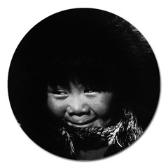 Vintage Usa Alaska Eskimo Child 1970 Extra Large Sticker Magnet (round) by Vintagephotos